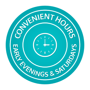 Convenient Hours horizontal button Marda Loop Braces Calgary AB
