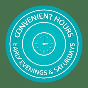 Convenient Hours horizontal button Marda Loop Braces Calgary AB